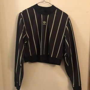 Adidas cropped track pullover